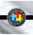 Autism Awareness Month Badge vector image vector image