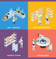 automated shops isometric concept vector image vector image