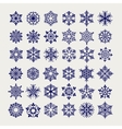 ball pen imitation snowflakes set vector image vector image