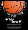 basketball ball background vector image