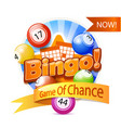 bingo game logo vector image vector image