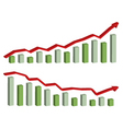 business finance chart graph vector image vector image