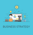 business strategy digital technologies charts vector image vector image