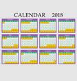 calendar 2018 eps 10 vector image vector image