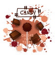 candy chocolate lolly dessert colorful icon choose vector image