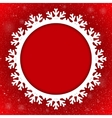Circle Red Background New Year Snow Snowflake vector image vector image