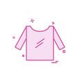 cloths icon design vector image vector image