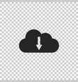 cloud download icon isolated on transparent vector image vector image