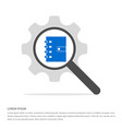 contact book icon search glass with gear symbol vector image