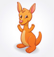 cute infant kangaroo joey cartoon character vector image vector image
