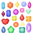 diamond gem and precious gemstone or vector image vector image