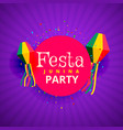 festa junina june party festival background vector image vector image