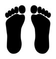 footprint from foot vector image vector image