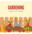 Gardening Concept Tools for working in garden vector image vector image