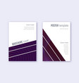 geometric cover design template set violet abstra vector image vector image