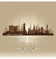 Glasgow Scotland skyline city silhouette vector image vector image