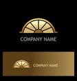 gold half circle shine logo vector image
