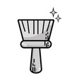 grayscale broom sweep equipment to clean house vector image vector image