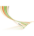 green and orange bent lines vector image vector image