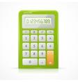 Green Calculator vector image