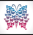 group of butterfly make big butterfly shape vector image vector image