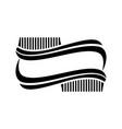hair brush salon logo vector image vector image