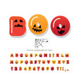 halloween cartoon font cute colorful letters and vector image
