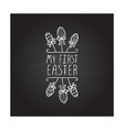 hand drawn typographic easter element on vector image vector image