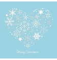 Heart of the snowflakes vector | Price: 1 Credit (USD $1)