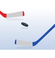 Ice Hockey Player with Stick and Puck vector image vector image