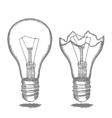 Lamp Bulb Hand Draw Sketch vector image vector image