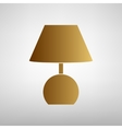 Lamp sign Flat style icon vector image