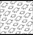 line silhouette hippopotamus safari animal vector image vector image