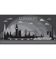 london skyline silhouette 6 vector image vector image