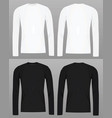long sleeve t shirt template vector image vector image