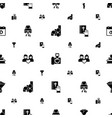 love icons pattern seamless included editable vector image vector image