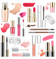 makeup cosmetics with smears vector image