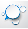 Paper white-blue round speech bubbles vector image