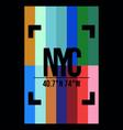 rainbow with new york slogan vector image