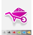 realistic design element garden wheelbarrow vector image vector image