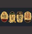 retro vintage golden olive oil background vector image vector image