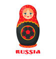 russia poster russian doll vector image vector image