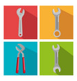 set building construction and home repair tools vector image vector image