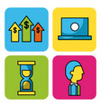 set business and finance icons web app image vector image