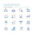 set color line icons logistics vector image vector image