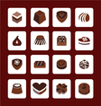 set icons of Chocolate Icons vector image vector image