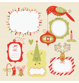Set of christmas and new year elements vector | Price: 3 Credits (USD $3)
