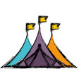 shelter tents icon vector image vector image