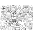 Sketch cute elements vector image vector image