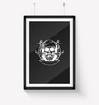 sketch pirate skull with anchor vector image vector image